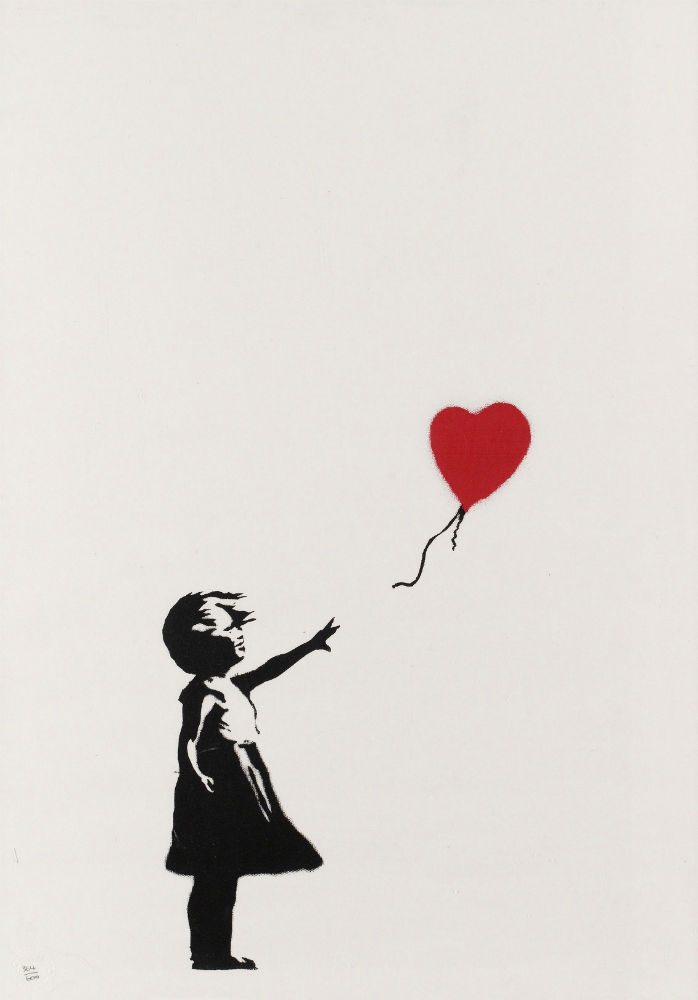 girl with balloon unsigned banksy lionelgallery. Black Bedroom Furniture Sets. Home Design Ideas